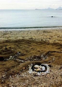 beach art at Tanza Beach Philippines