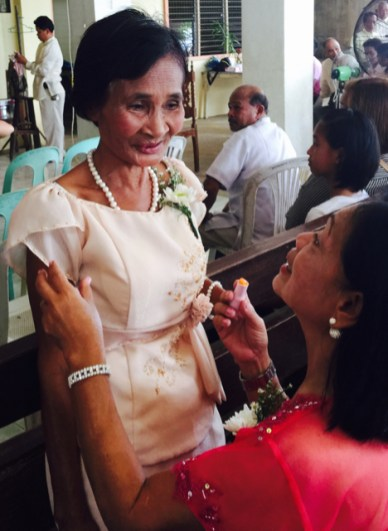 Wedding of Nichol and Ronalyn - mother puts on her makeup