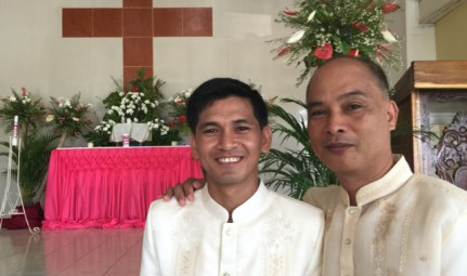 Wedding of Nichol and Ronalyn - pastro daitol and the groom
