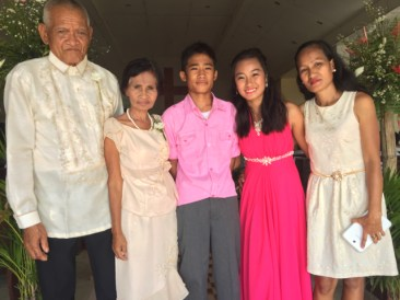 Wedding of Nichol and Ronalyn - three generations