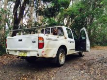 rumble in dad's ute