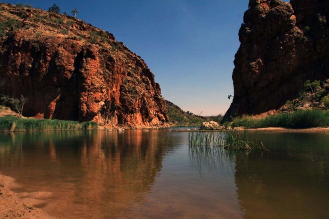 Swimming in Glen Helen Gorge (NT) last Sunday ... 19/10/2011