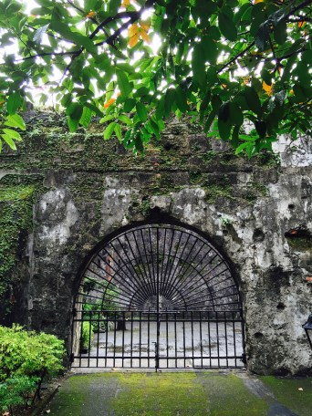 at the gates of the fort
