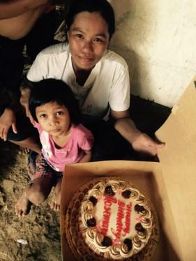 birthday cake for her big sister rosemary