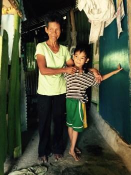 jericko l. bano and grandmother