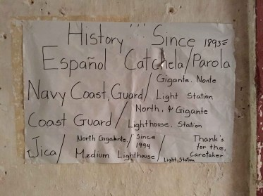 official sign at the old spanish lighthouse