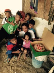 the kids are excited to eat birthday cake