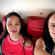 tita em and tita mel sweating on the bus