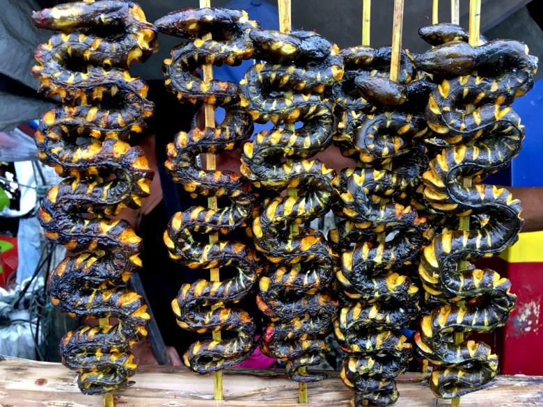 BBQ'd sea snake