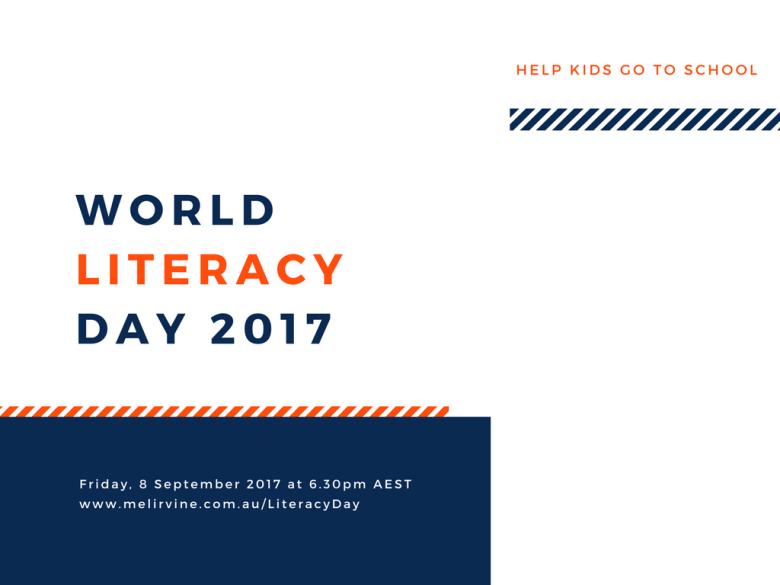 Help Filipino kids with Melinda J. Irvine on World Literacy day 2017 PAGE 1