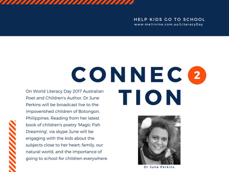 Help Filipino kids with Melinda J. Irvine on World Literacy day 2017.5