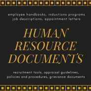 human resources documents by Melinda J. Irvine