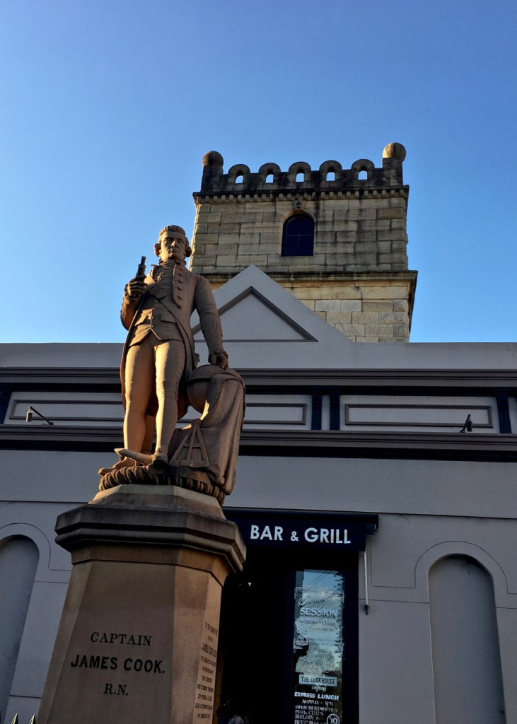 historic statue of captain cook