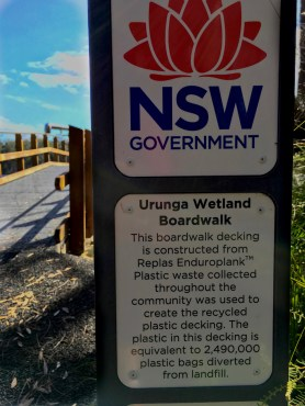 interpretive sign urunga boardwalk