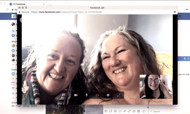 on a FB call talking business and friendship