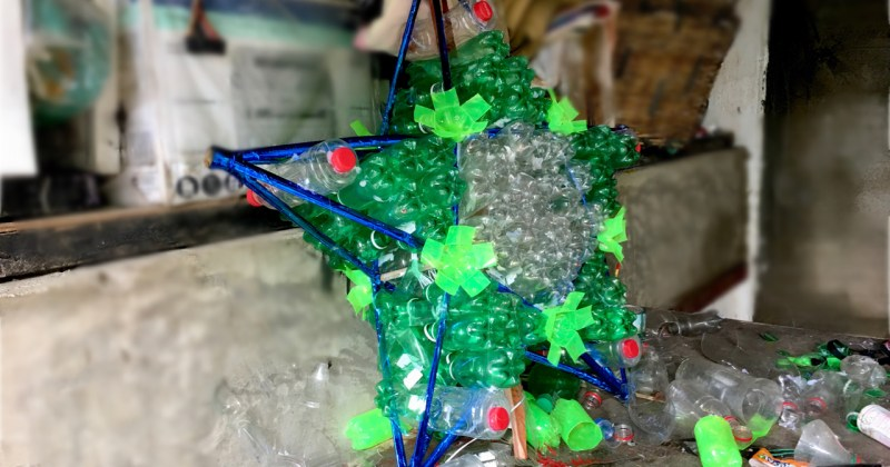 recycling plastic for christmas