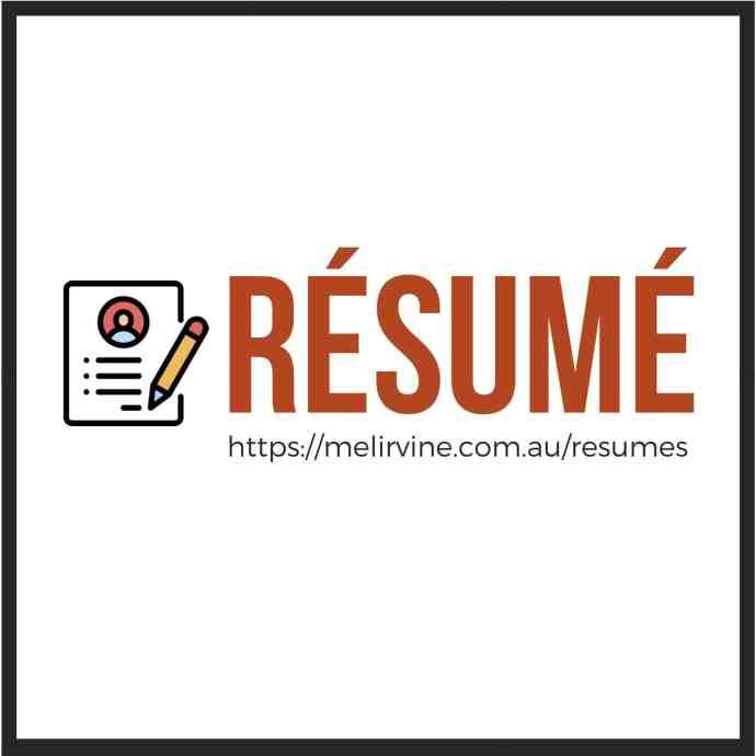 get a professional resume written by Melinda J. Irvine