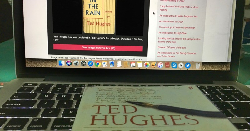 ted hughes poetry book