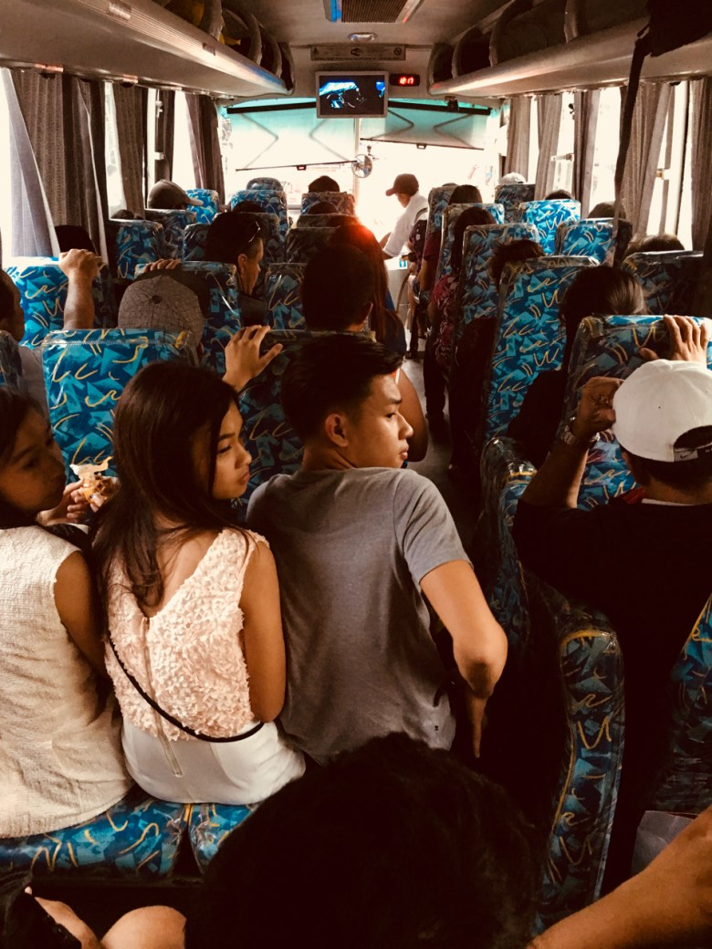 broken seat on a bus in the Philippines