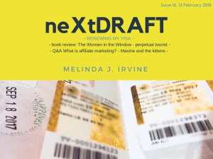neXtDRAFT an eZine by Melinda J. Irvine Issue 16