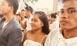 couple at a mass wedding