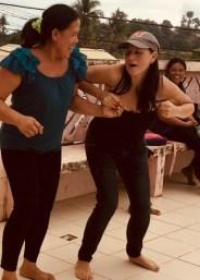 mel irvine doing the chicken dance
