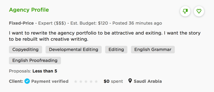 vague job ad on upwork