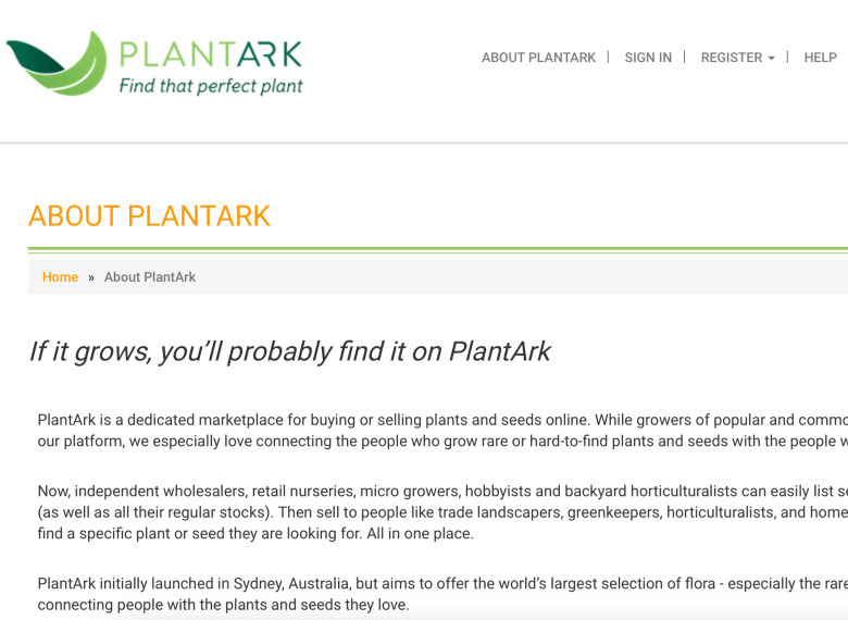 PlantArk About Us page