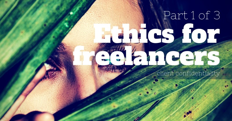 Melinda J. Irvine -- ethics for freelancers - part 1 of 3