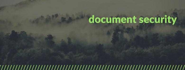 Melinda J. Irvine -- document security