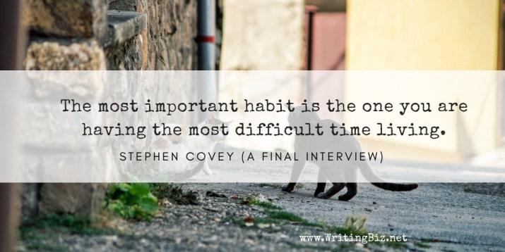 Melinda J. Irvine - freelance writer -- the most important habit