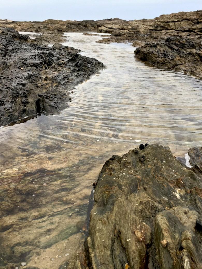 wind rippled rock pool