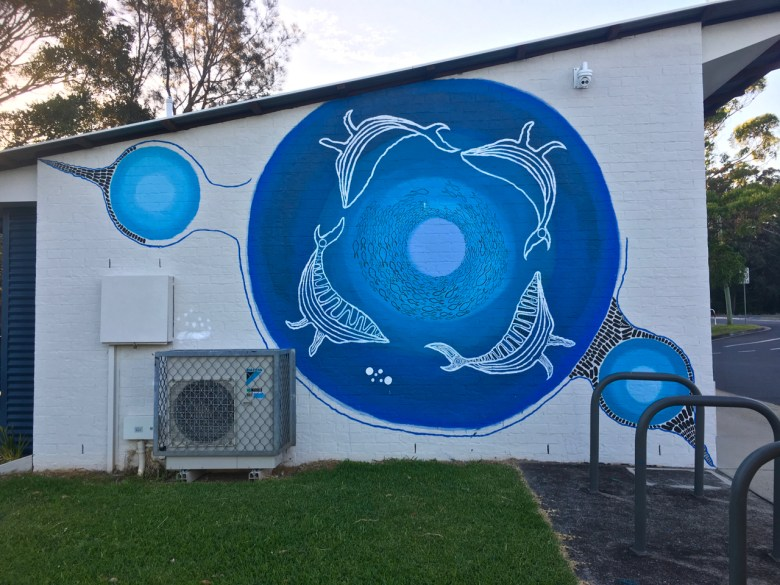 whale mural at nambucca heads