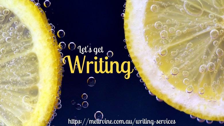 Melinda J. Irvine let's get writing writingbiz.net