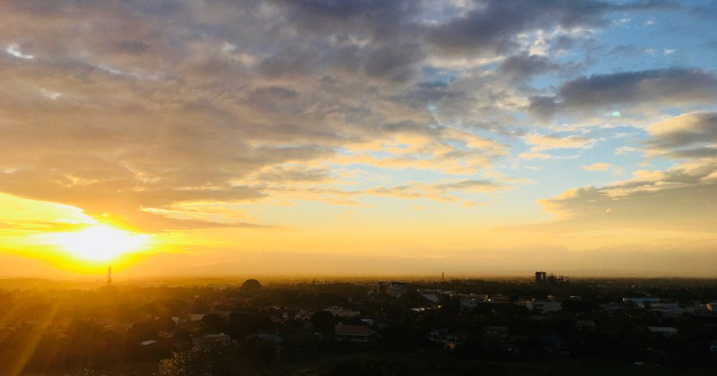 sunset over iloilo city