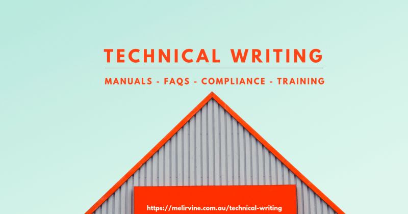 technical writing services of Melinda J. Irvine