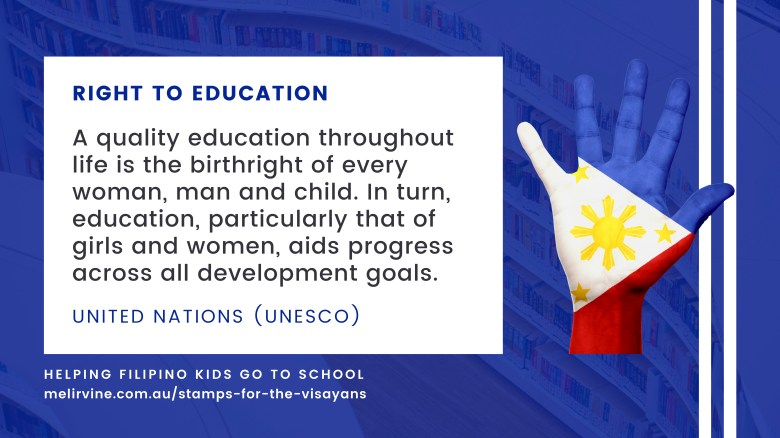 stamps for the visayans - all kids have a right to a quality education