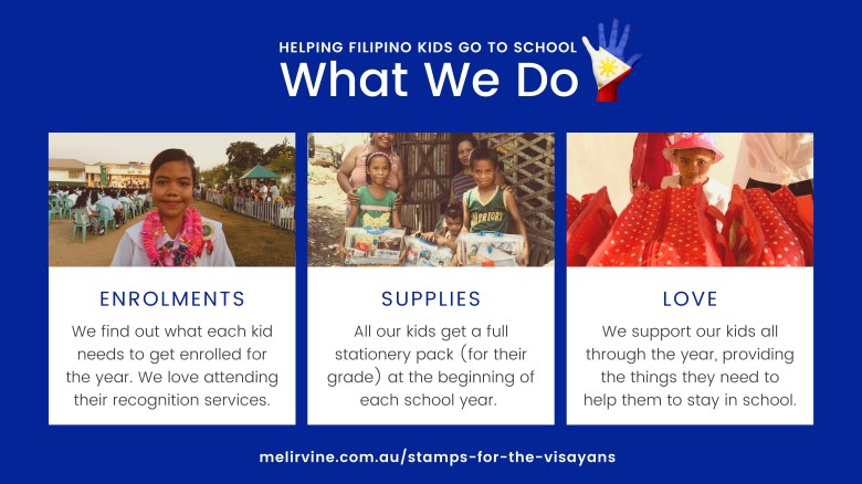 stamps for the visayans - helping disadvantaged kids go to school
