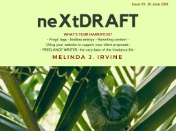neXtDRAFT an eZine by Melinda J. Irvine Issue 59.
