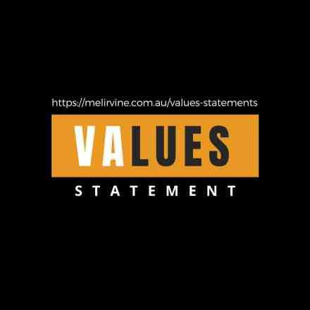 get a core values statement written @ Melinda J. Irvine
