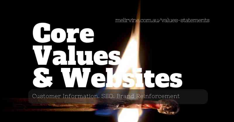 core values and websites by Melinda J. Irvine