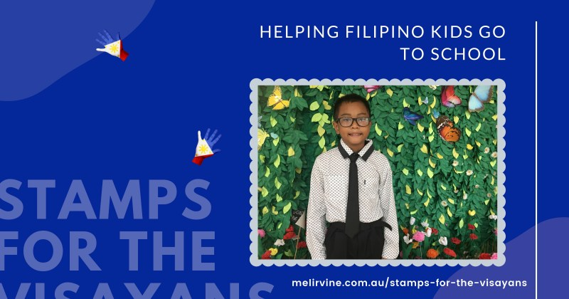 stamps for the Visayans - jerry at school program