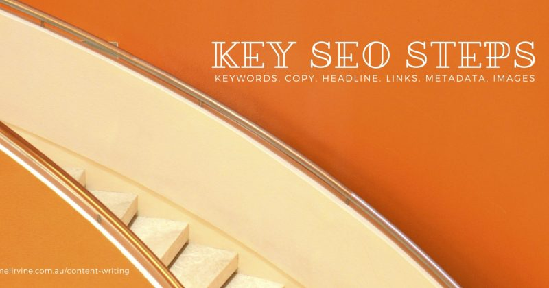 KEY SEO STEPS by Melinda J. Irvine