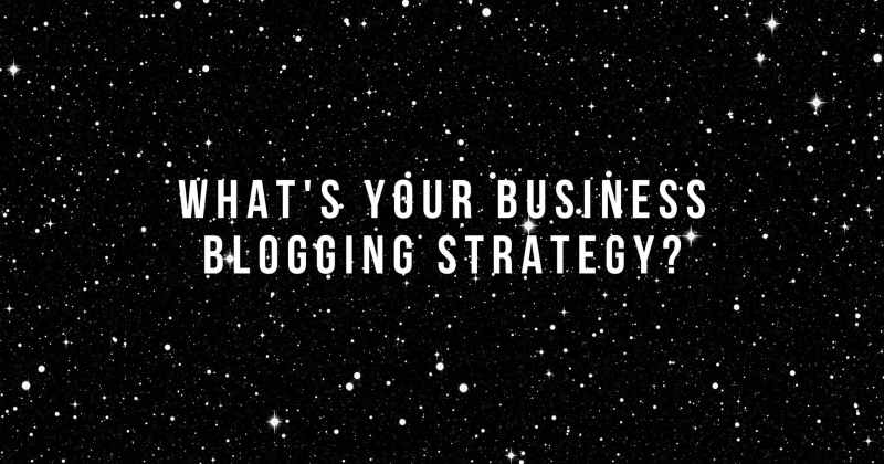what's your business blogging strategy_ @ Melinda J. Irvine