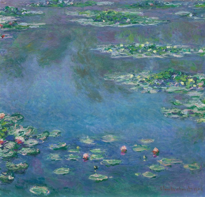 Water Lilies by Claude Monet. 1906–1907. Public Domain image sourced from Wikipiedia.