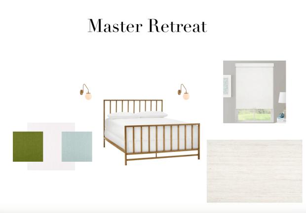 Master Retreat mood board