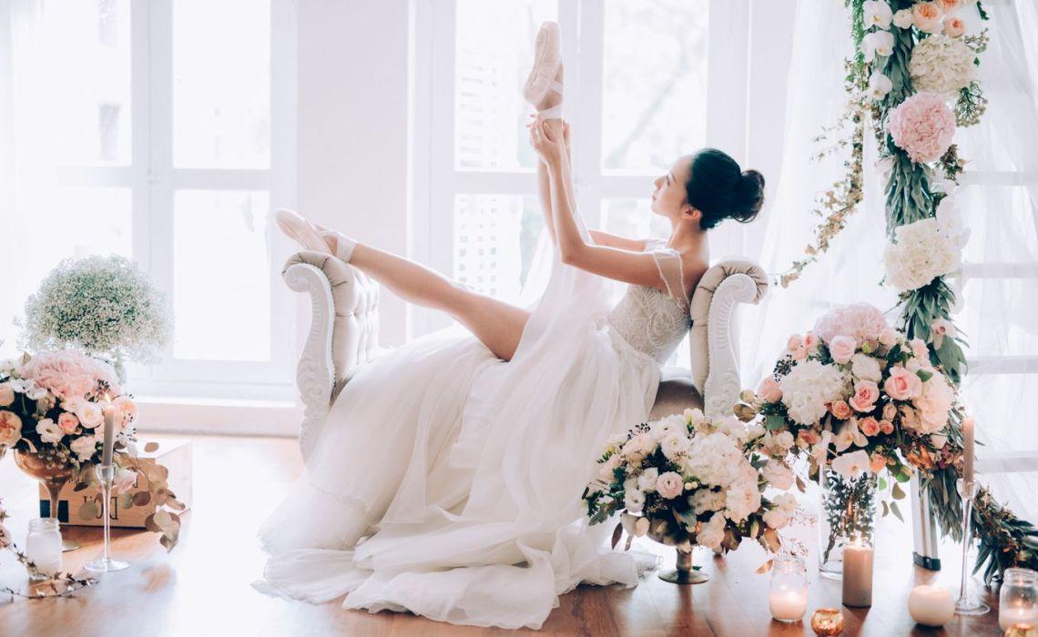 Look de novia inspirado en el ballet
