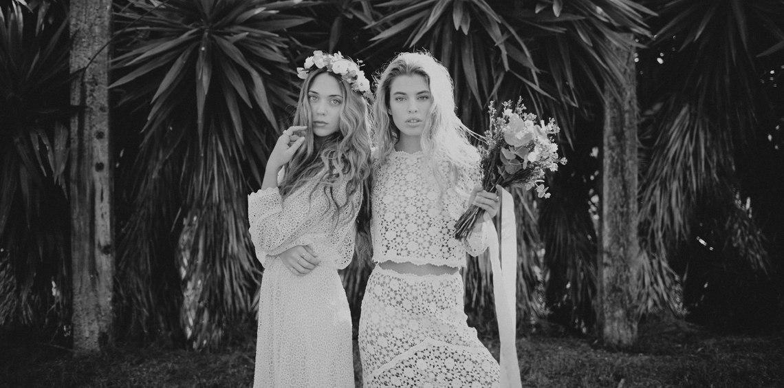 Look estilo Coachella para novia