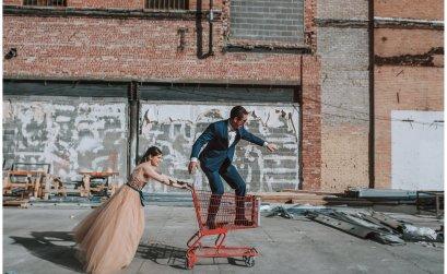 Sesión de compromiso romántica