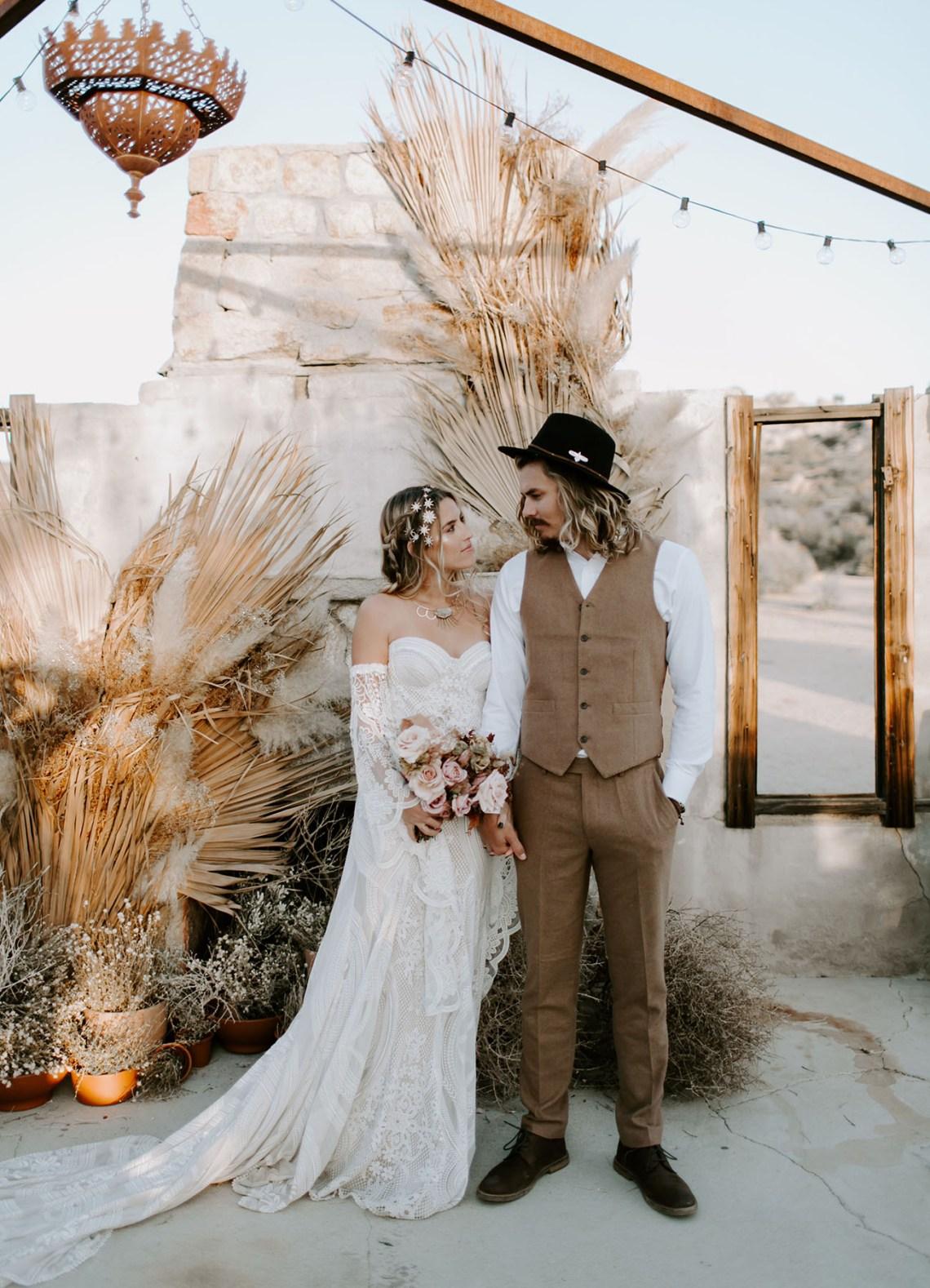 Flores secas para decorar una boda